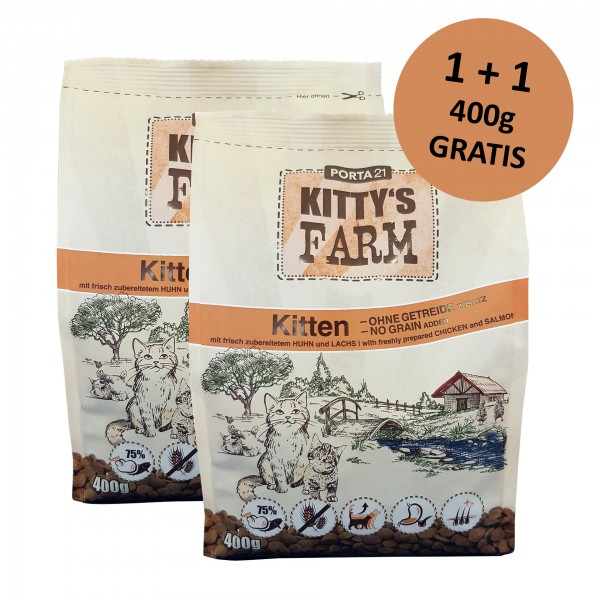 Kitty's Farm Kitten (400g) + 400g gratis