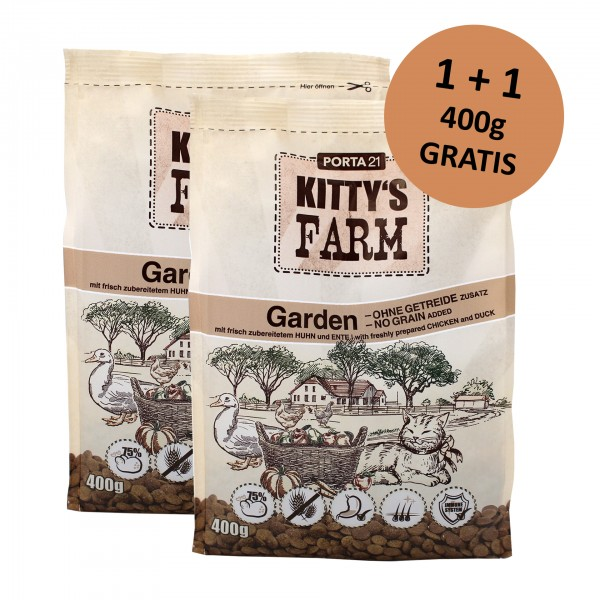 Kitty's Farm - Garden 400g + 400g gratis