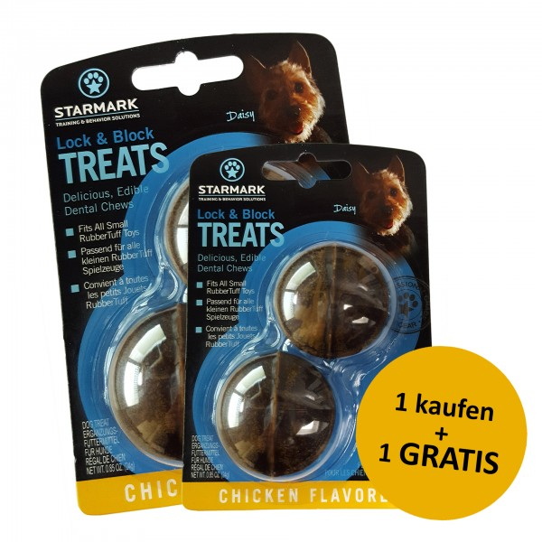 Lock & Block Treat Small + 1 gratis
